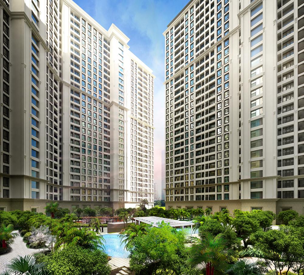 Không gian xanh của chung cư cao cấp the emerald
