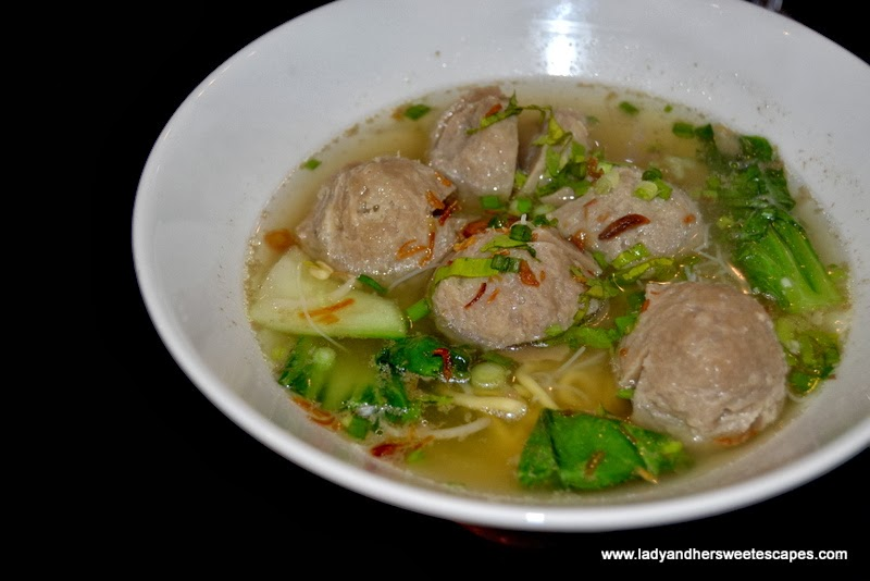 Wok It restaurant's Bakso Soup