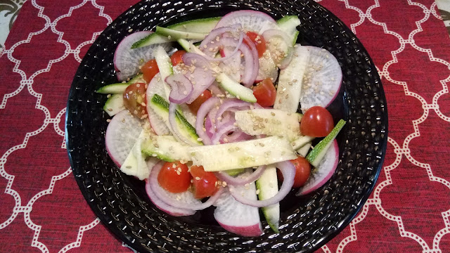 Radish and Zucchini Heathy Salad Recipe