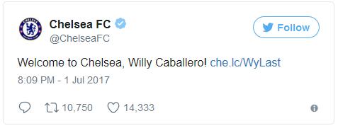 Berita Transfer Liga Inggris: Willy Caballero Resmi Gabung Chelsea
