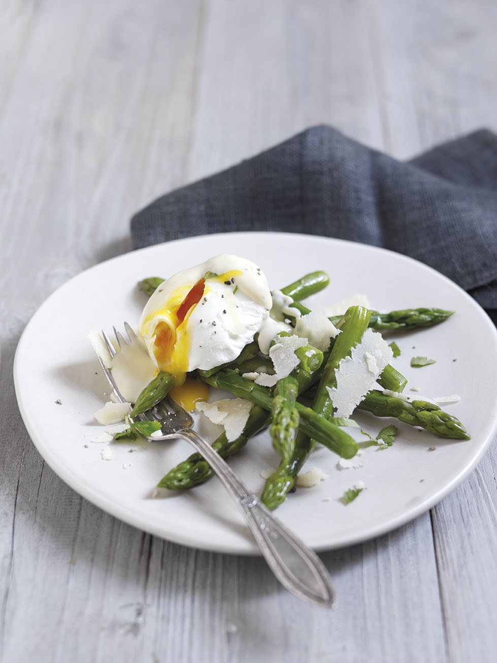 Recipe: Asparagus with Poached Eggs and Parmigiano ...