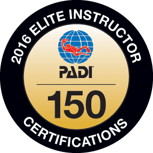 PADI Elite Instructor rating for 2016