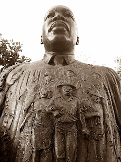 a bronze statue of Dr. Martin Luther King, Jr.