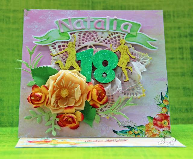 Kartka sztalugowa, Rajskie Sonety inspiracje, karka na 18ste urodziny, kartka urodzinowa, prezent na 18stkę, Magiczna Kartka Rajskie Sonety, tekturka 18stka