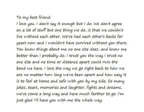 Paragraph To Your Best Friend On Their Birthday Love You