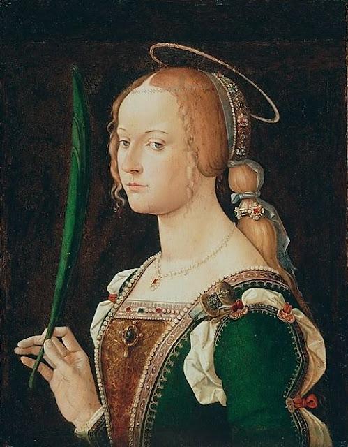 Mulher medieval cabelo