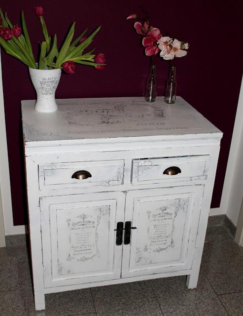 DIY, Basteln: Shabby Chic Schrank / Schränckchen in Möbel und Wohndekoration - DIYCarinchen