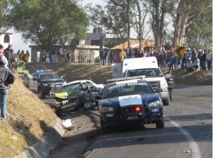 Taxi y patrulla