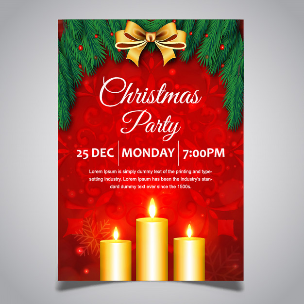 Christmas Posters Designs Free Vector