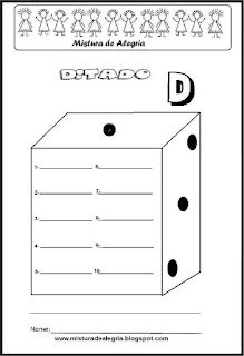 Treino ortográfico letra D de dado
