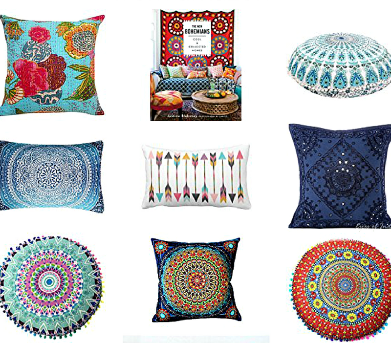 19 Colorful Bohemian Throw Pillows That Will Make You Say ...