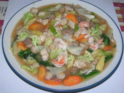 Resep capcay kuah jamur spesial Mandarin
