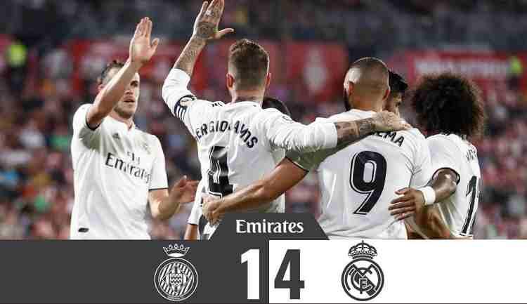 Hasil Girona vs Real Madrid Skor Akhir 1-4 [ La Liga 2018]