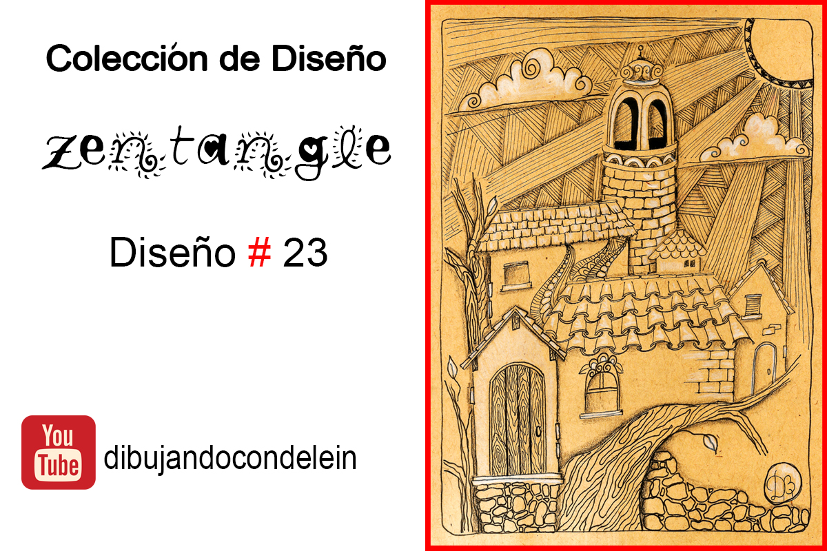 Dibujando Con Delein Como Hacer Una Libreta De Dibujo: Dibujando Con Delein: Como Dibujar Diseño Zentangle #23