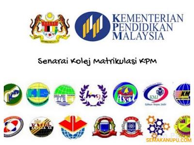 Senarai Terkini Kolej Matrikulasi KPM