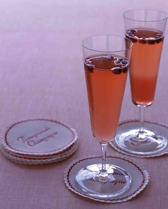 Champagne Punch sparklingcocktails for engagement party
