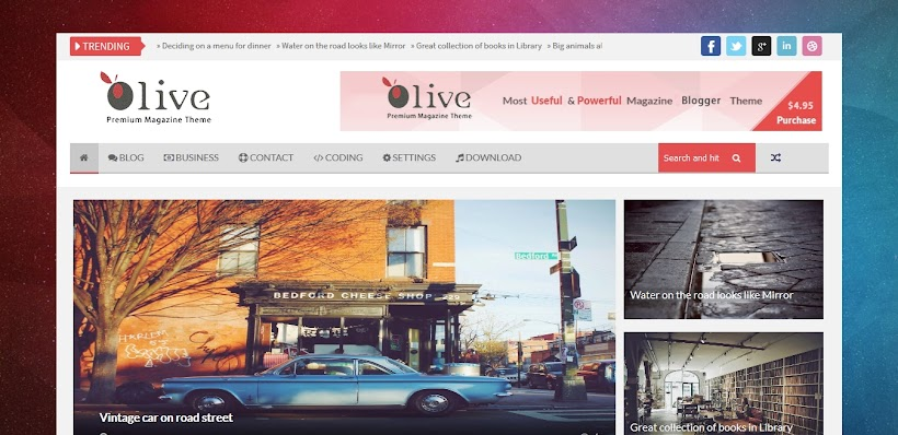 Olive Free Blogger Template