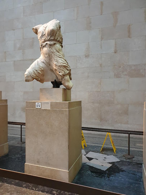 Roof leak causes concern for the Parthenon Marbles in the British Museum