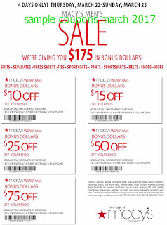 Macy's coupons march 2017