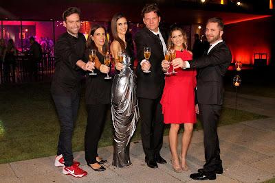 Hugo, Elisa, Chris, Bertolazzi, Beca e Lucas (Crédito: Gabriel Gabe/SBT)