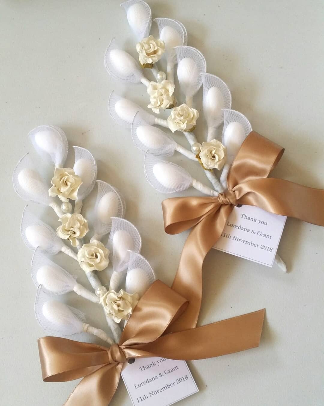 Italian style wedding favors personalized