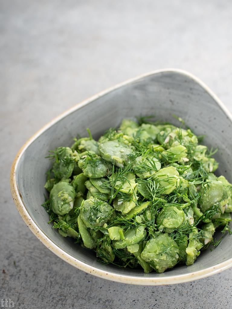 Bób w vinegrette koperkowym wegańskie, bezglutenowe roślinny blog kulinarny