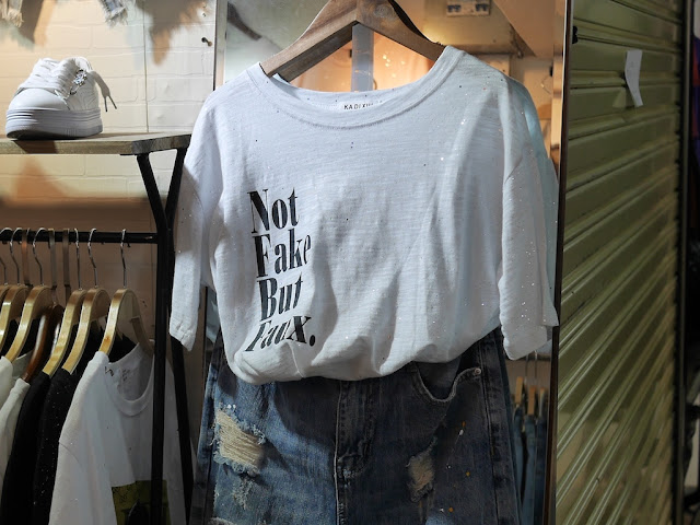 """Not Fake But Faux."" shirt"