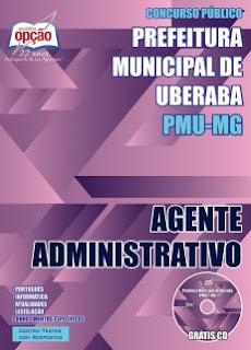 Apostila digital Prefeitura de Uberaba (PMU-MG) agente administrativo