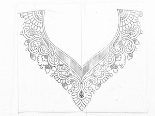 Top 5 embroidery neck design drawing for blouse, kurti,dre dress.  Neckline sketch for hand emroidery design.neck design patterns