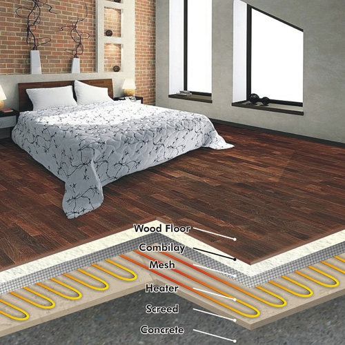 Floor Heating Under Solid Wood Flooring