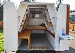 This Is A Home Built Trailer That Totally Unique Its Interior Twelve Feet Long And The Floor 58 Inches Wide It Has About Six Of Headroom