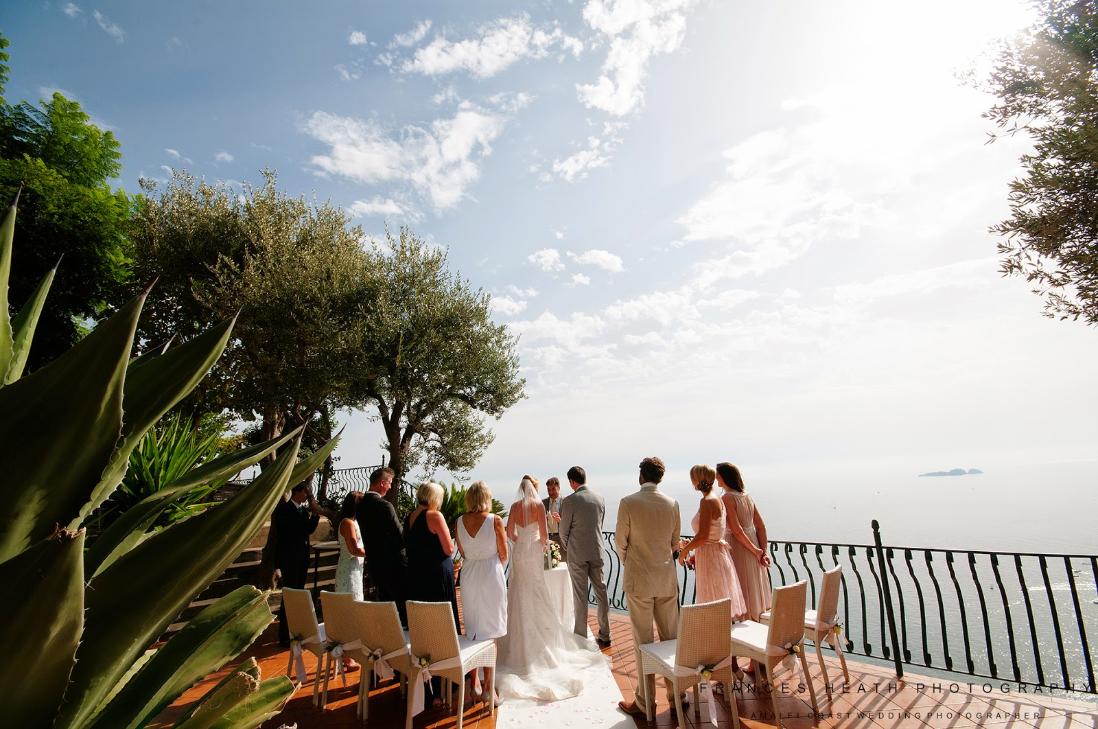 Wedding ceremony at Villa Oliviero in Positano
