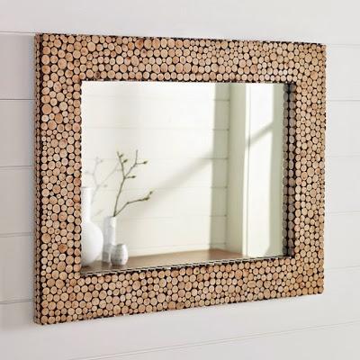espejo diy con corchos reciclados