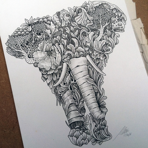 01-Elephant-Muthahari-Insani-Beautifully-Detailed-Ink-Drawings-and-Doodles-www-designstack-co
