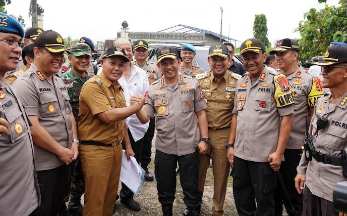 Kapolri, Tito Karnavian Apresiasi Pemkab Lampung Selatan Hibahkan Tanah Untuk Mapolres Lampung Selatan.