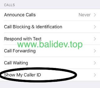 pengaturan show my caller id