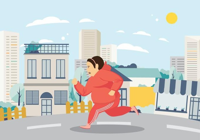 Woman Exercising And Running On The Street Free Vector