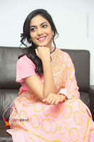 Actress Ritu Varma Pos in Beautiful Pink Anarkali Dress at at Keshava Movie Interview .COM 0296.JPG
