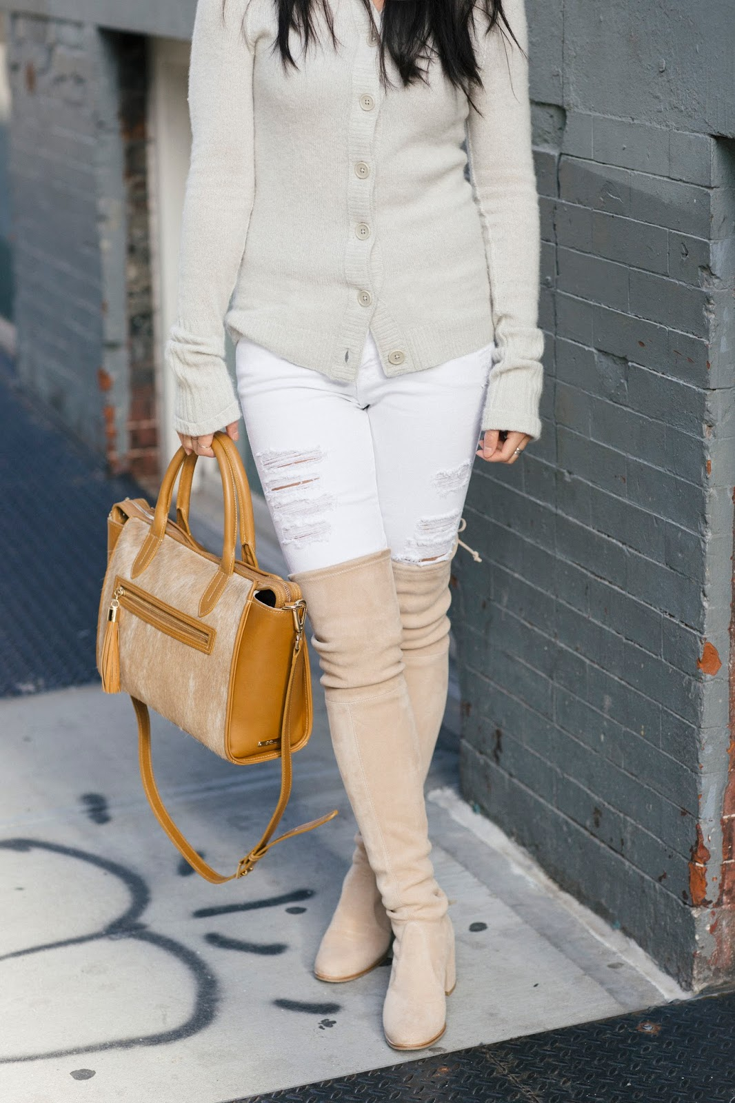 frame denim le rip skinny gigi new york satchel stuart weitzman tieland boots