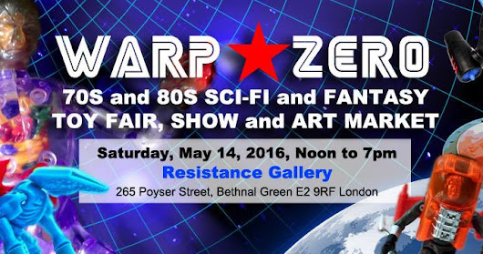 LOST ENTERTAINMENT WILL BE APPEARING AT WARP ZERO SCI FI AND TOY FAIR