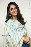 Actress Rakul Preet Singh Stills in Blue Salwar Kameez at Rarandi Veduka Chudam Press Meet  0104.JPG