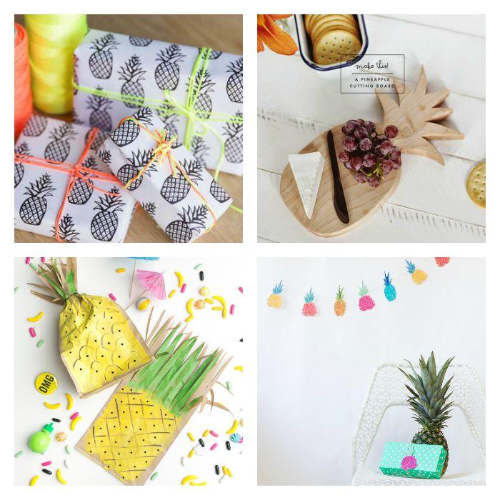 recursos diy inspirados en la piña - 8 diy pineapple