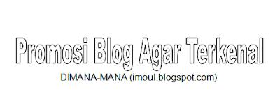 Cara Promosikan Blog agar Cepat Terkenal