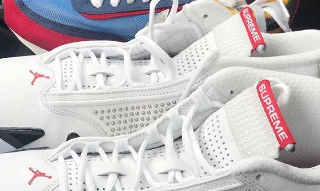 112eea0d8be THE SNEAKER ADDICT: Supreme x Air Jordan 14 Retro Sneaker Coming Soon?