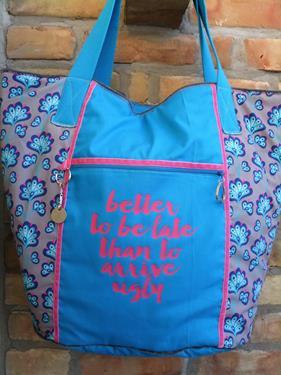 Markttasche von farbenmix in blau
