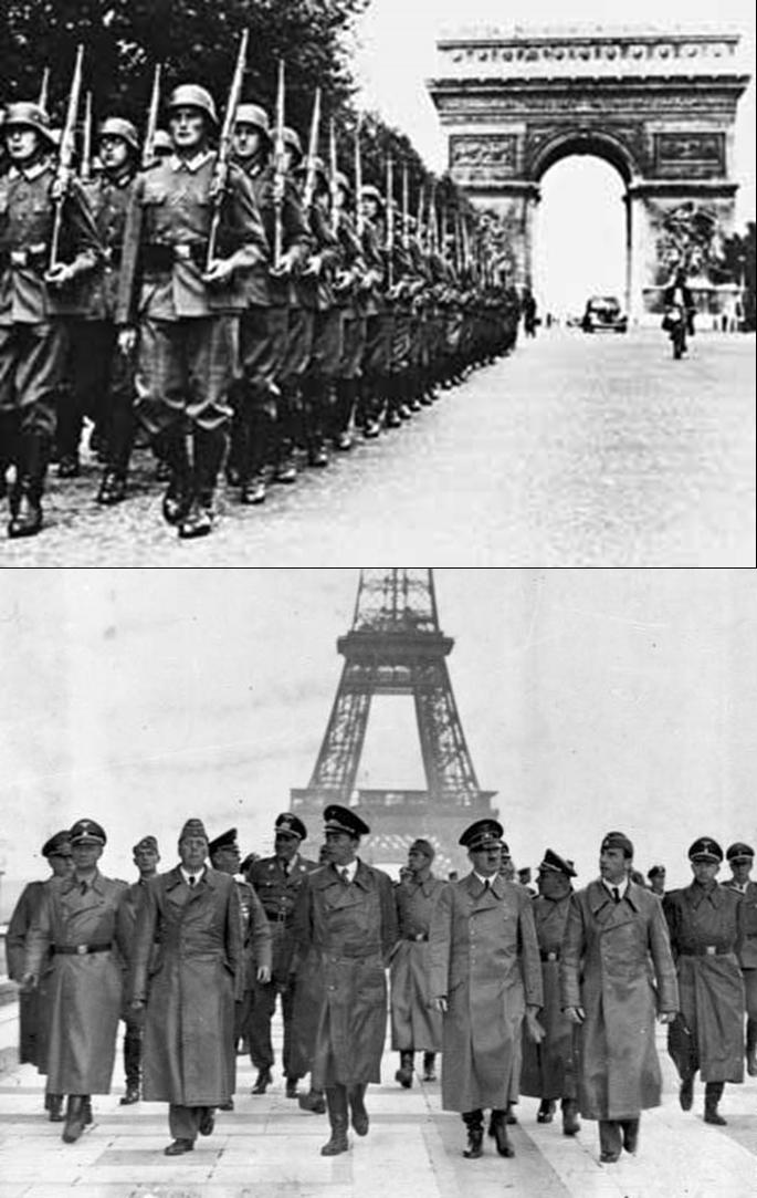 Resultado de imagen para Fotos del ejército alemán entrando en París