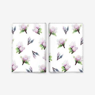 Oblogka s printom magnoliya na belom | Inna Yakuskeva's blog