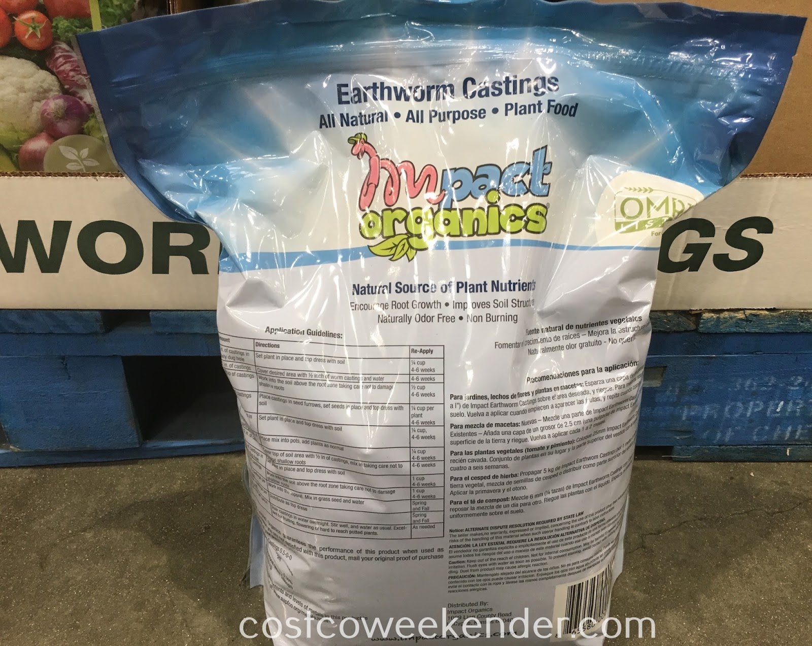 Costco 1025841 - Impact Organics All Purpose Plant Food Earthworm Castings: great for any garden or backyard