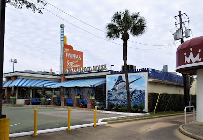 Pappas Seafood Kitchen with Swordfish Mural