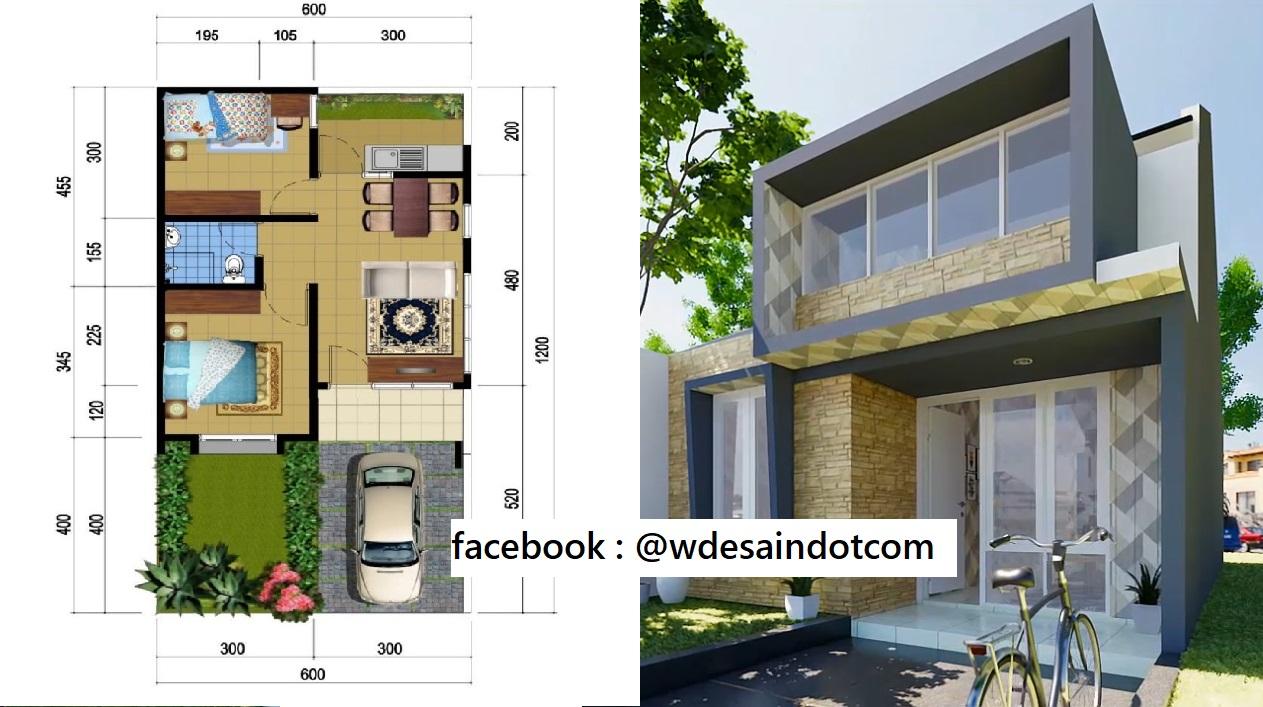 Model Rumah Minimalis 6x12 Dengan Denah Dan Anggaran Biaya - DESAIN RUMAH  MINIMALIS